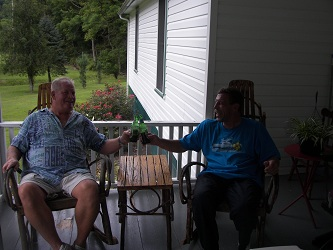 sedie amish, relax, franco calafatti e jim procter a lesage, west virginia